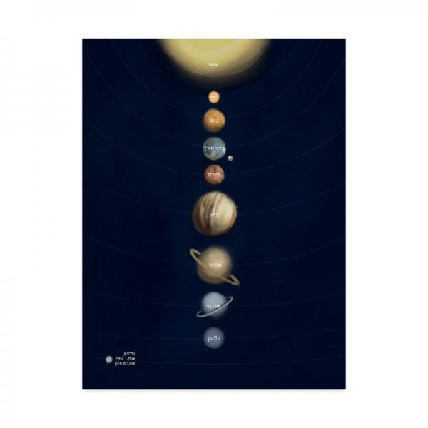 פוסטר מערכת השמש
